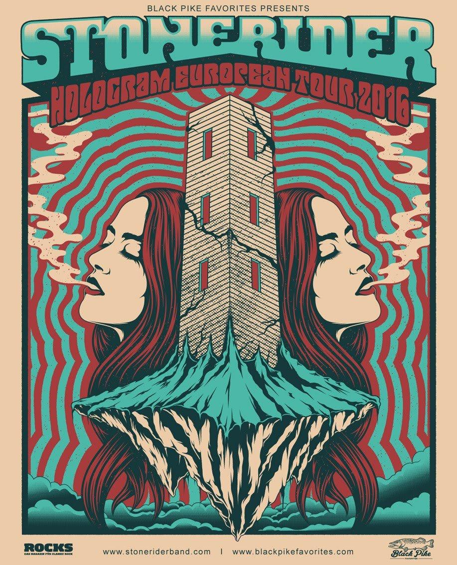 Stonerider European Tour 2016 Poster